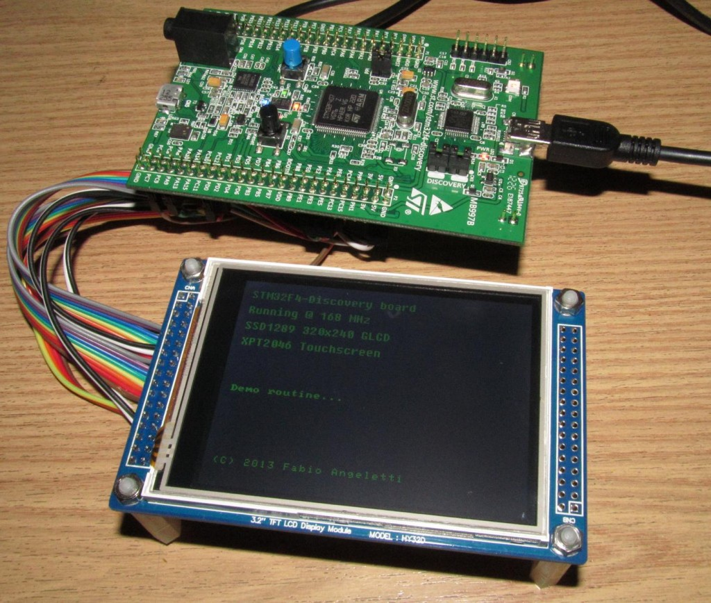 STM32F4-Discovery LCD Touchscreen